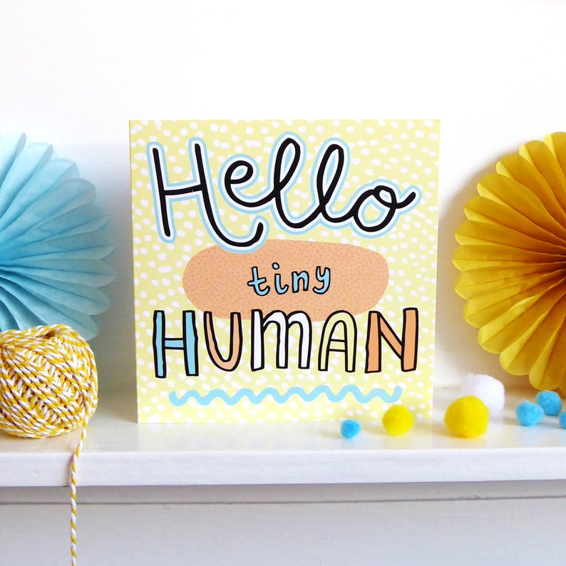 Unisex Funny New Baby Card Cute Card Pregnancy Card  Congrats Baby Card  New Baby Gift  Baby Shower Card  New Born  New Parents Card