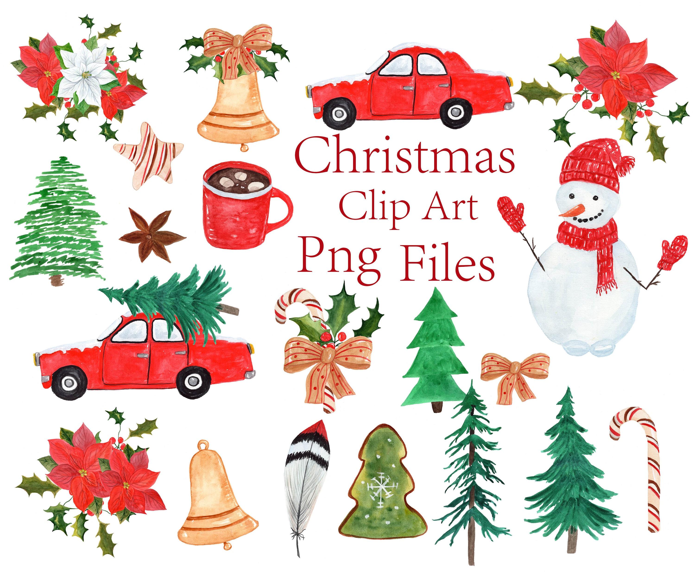 Weihnachtscliparts: Aquarell CLIPART Weihnachten | Etsy