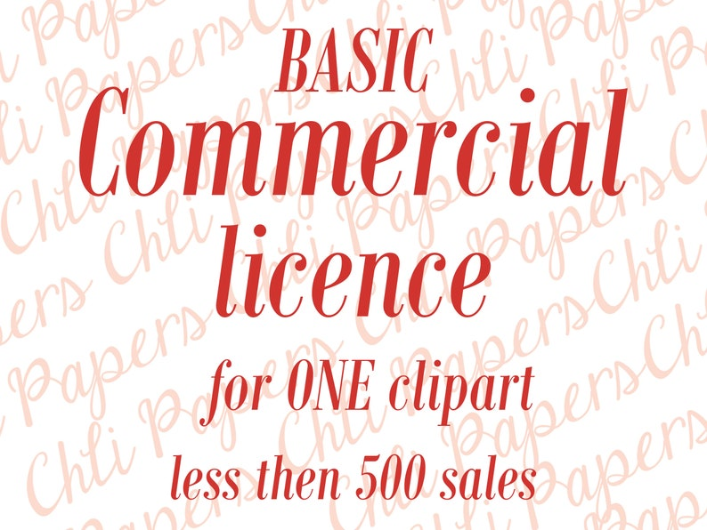No credit required Basic license Commercial license  For a single product