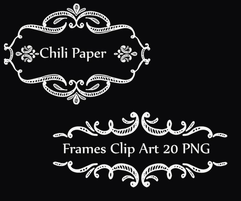 Chalkboard frame clipart FRAME CLIP ART Vintage frames Wedding frames Wedding clipart Invitation clipart Diy elements wedding invites