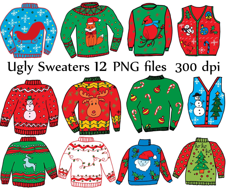 Hässliche Pullover ClipArt: Weihnachten CLIPART | Etsy