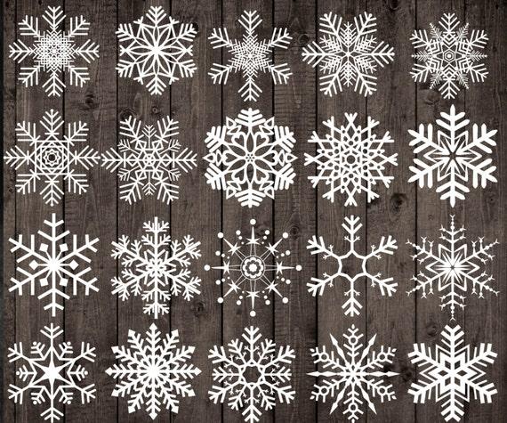 Fiocchi Di Neve Di Carta Per Bambini : Clipart dei fiocchi di neve di gesso: natale etsy