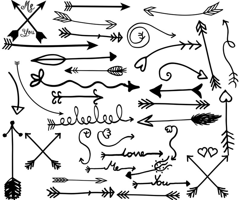 Tribal Arrow Clipart Arrow Clip Art Hand Drawn