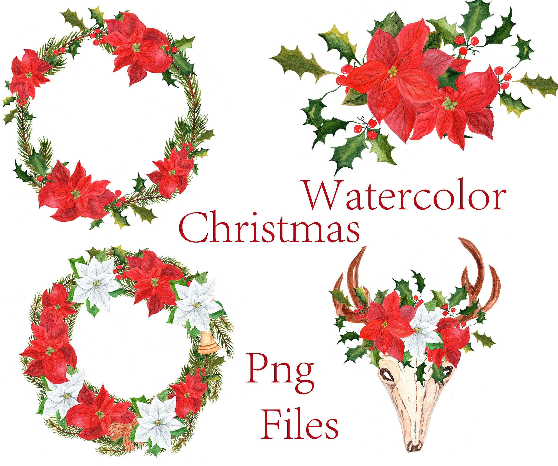 Aquarell weihnachtscliparts: ClipArt Weihnachten | Etsy