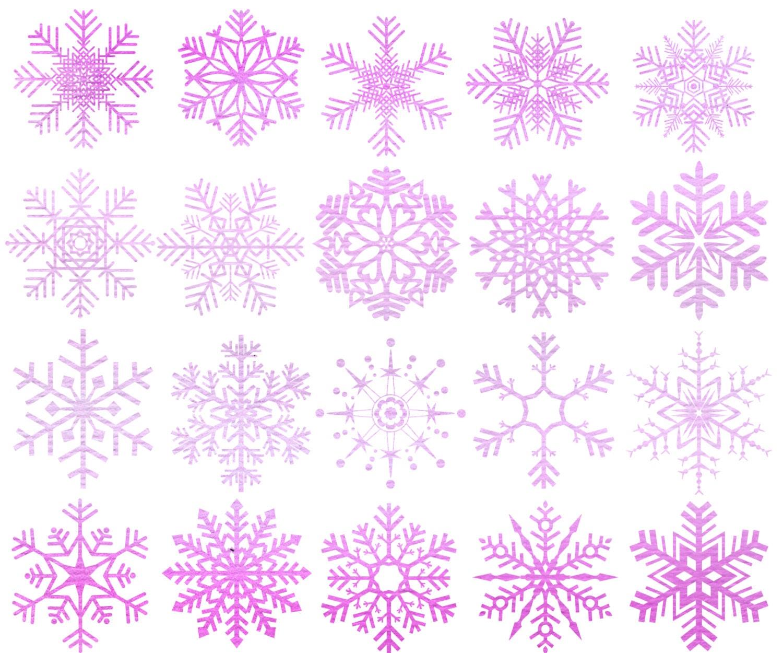 Aquarell Schneeflocken Clipart: Weihnachten   Etsy
