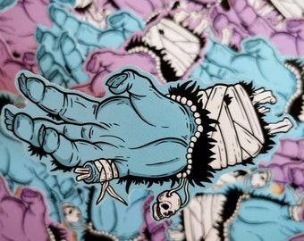 Make a Wish Blue Variant - monkey paw pastel horror sticker