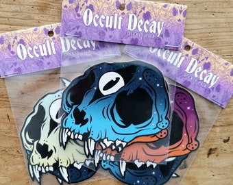 Occult Decay 3pcs Stickerpack - Witchy third eye skull sticker