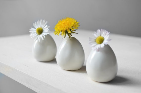 3 mini vases pour petites fleurs