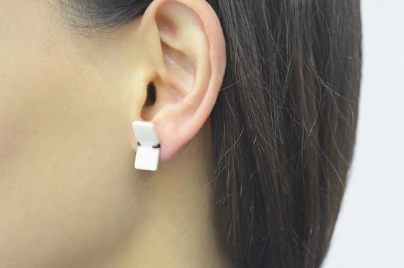 Boucles d'oreilles Papier plié
