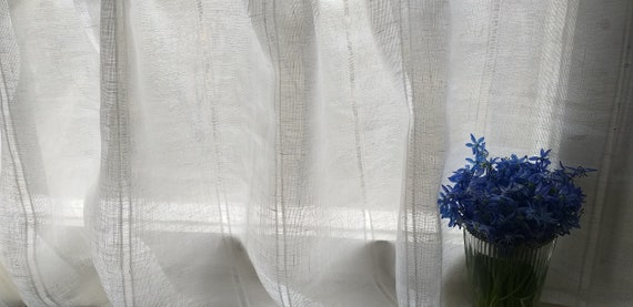"""4 Colors 120/"""" x 100/"""" Extra Wide and Long Rod Pocket Sheer Curtains Customizable"""