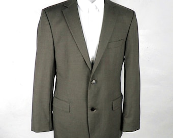 d0331a78 Hugo Boss Sharply Tailored Brown / Grey Pasolini / Movie Wool Jacket Size  40 L Slim Fit Made in the USA Classic Designer