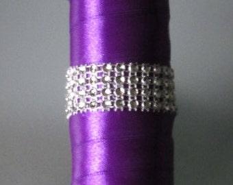 Bouquet handle holder (rhinestone effect 3 strips)
