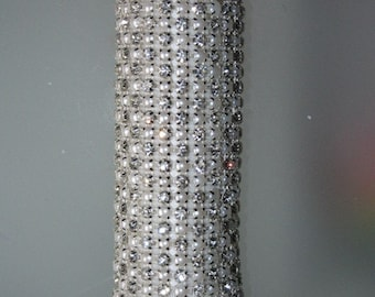 Bouquet handle holder, sleeve (rhinestone and white faux pearl)