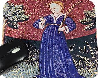 Virgo Virgin Art Mousepad - Virgo Zodiac - Virgo Medieval Art Mousepad - Zodiac Mousepad - Virgo Mousepad - Zodiac Art - Rectangle Mousepad