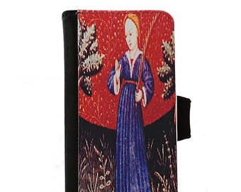 Virgo the Virgin Zodiac iPhone Wallet Case - Samsung Galaxy Wallet Case - iPhone 7 - Virgo Zodiac Phone Case - Virgo iPhone 8 Wallet Case