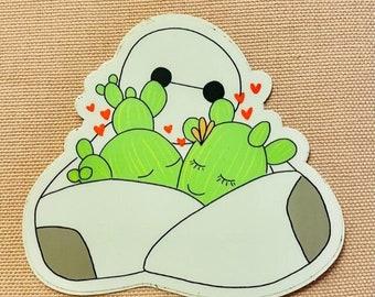 Need a Hug? Sticker   Cactus Couple   Big Hero   Love   Gift