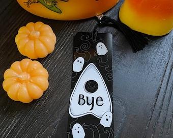 Ghost - Ouija Bookmark   Books   Book Nerd   Scary   Spooky   Spooky but Cute   Horror   Planchette   Halloween