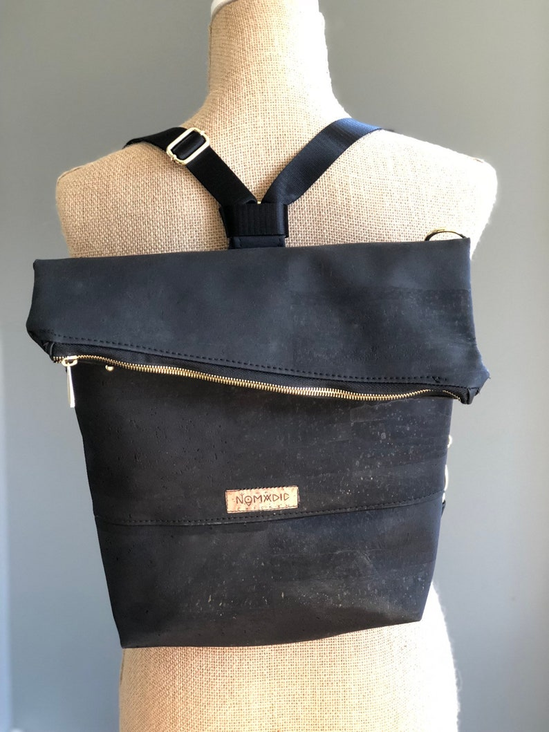 Convertible backpack crossbody bag backpack cork image 0