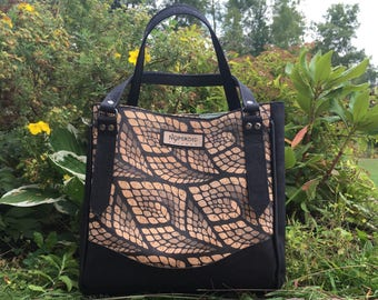 Charlotte City Tote, large shoulder bag, small tote bag, cork shoulder bag, vegan shoulder bag, vegan tote bag, elephant purse
