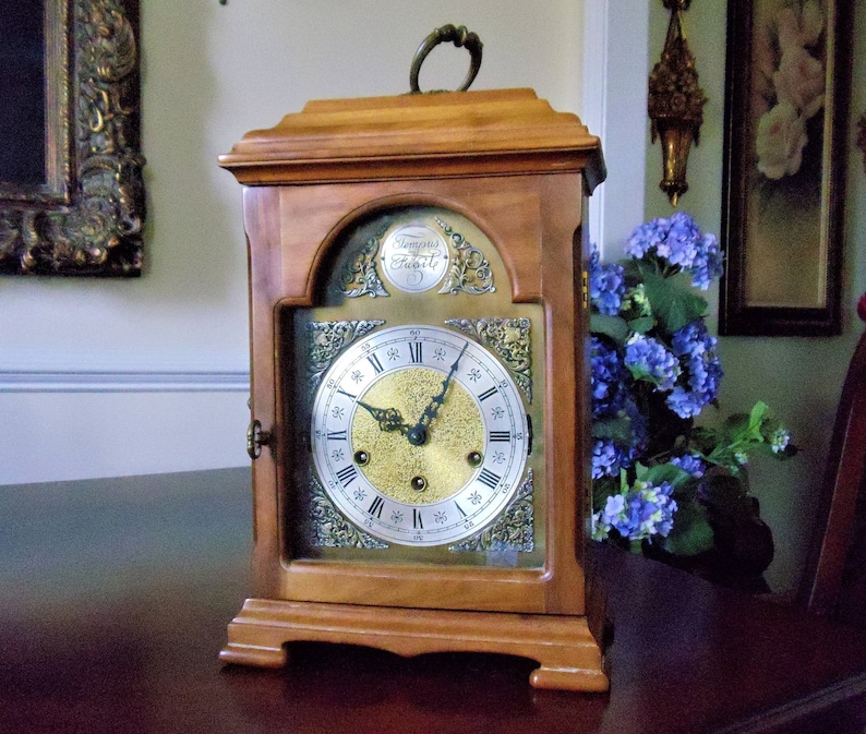 Vintage Urgos Made in Germany Mantel ClockTempus Fugit | Etsy