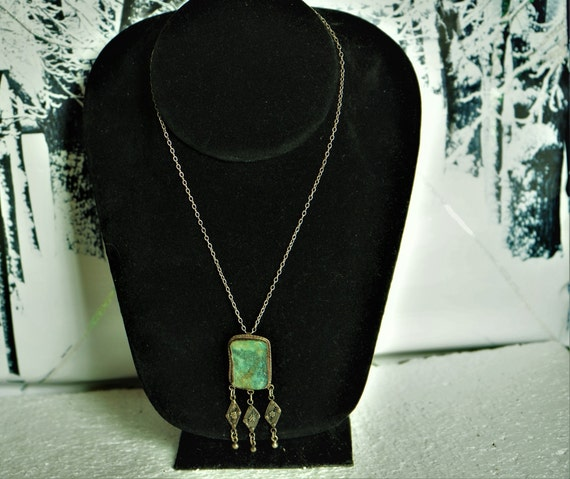 Druzy Pendant Druzy Pendant Necklace Jasper Rosary Chain Gemstone Necklace Authentic Hand Soldered Druzy Pendant Necklace