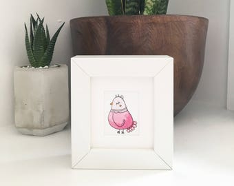 Original Bird Illustration - WITH FRAME