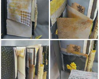 Black Orchid junk journal, art journal, handmade mixed media journal