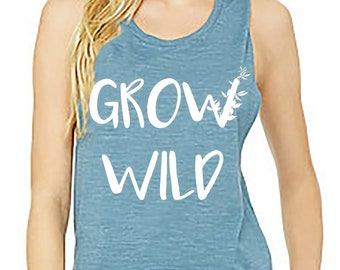 Grow Wild Women's Eco Friendly Muscle Tank Top