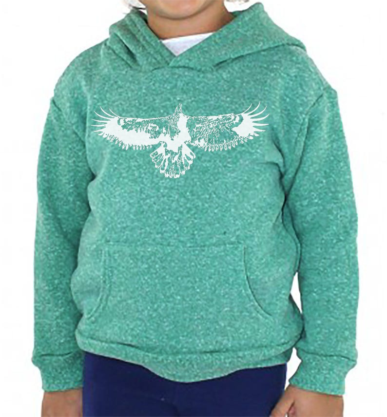 b0422c1c Toddler Eagles Tri Blend Vintage Hoodie, Kids Eagle Pullover Hoodie  Sweatshirt, Toddler and Youth Sizes