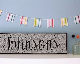 MADE TO ORDER Negative Space Name Board