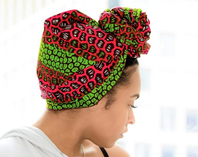 Ankara Headwrap, Pink Headwrap, Turban Wax, Green Headwrap, African Headwrap