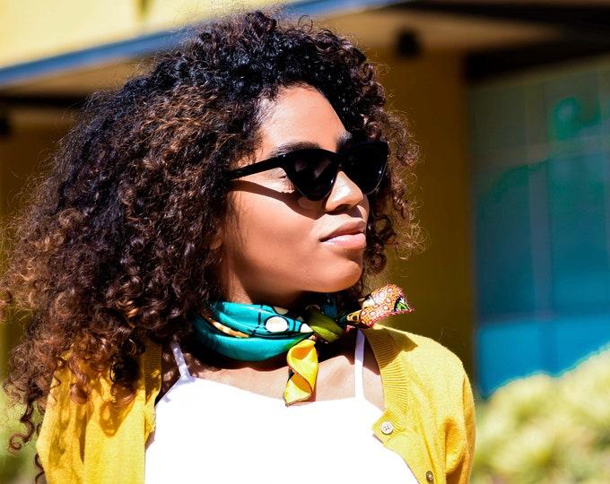 Ankara Neckerchief, Women's Scarf, African Fabric Scarf, Scarf