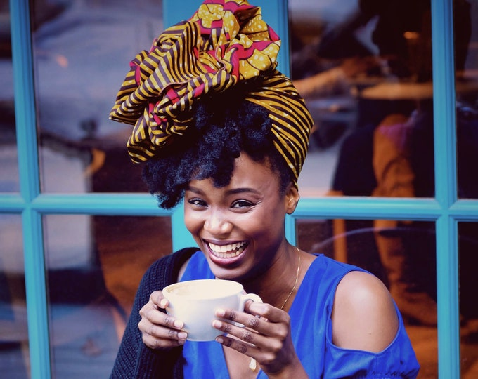 Turban Wax, Ankara Headwrap, Women's Headwrap, African Headwrap