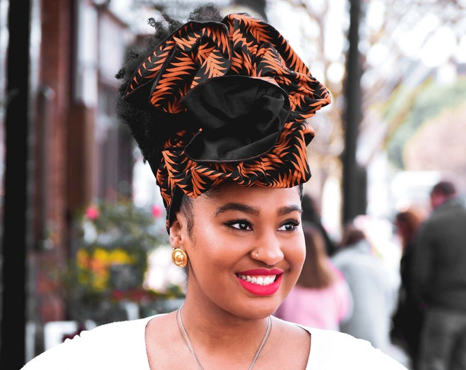 Turban Wax, African Headwrap, Women's Headwrap, Black Headwrap, Women's Scarf