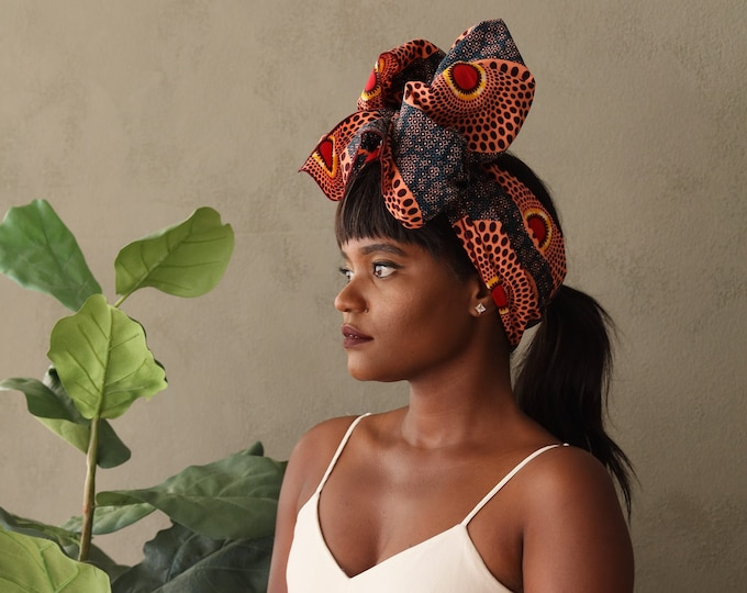 Turban Wax, African Fabric Headwrap, Women's Headwrap