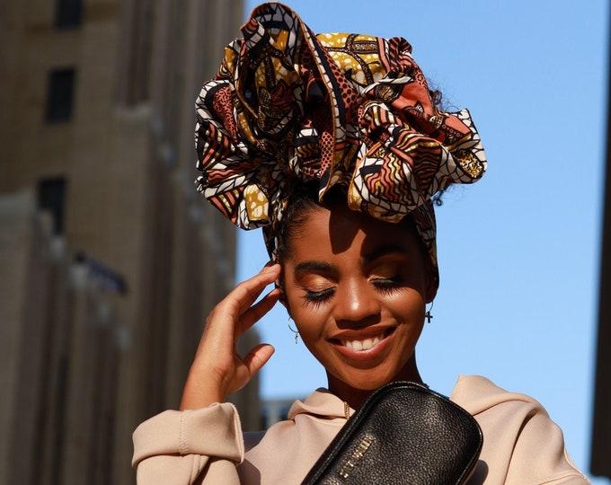 Turban Wrap, Women's Headwrap, African Print Headwrap