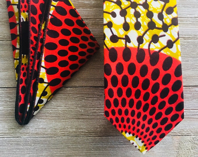 Necktie, Ankara Necktie, Wedding Necktie, Groomsmen Necktie, Wax Print