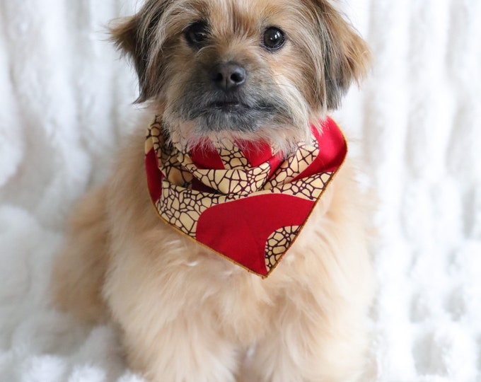 Red Dog Bandana, Puppy Bandana, Pet Wear, Puppy Wear, Valentine's Dog Bandana, Valentine's Dog clothes, Pet Gifts