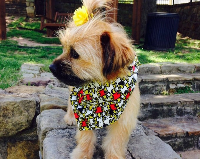 Pet Bandana, Ankara Dog Bandana, Pet Accessories, Pet Wear