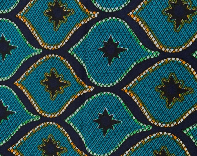 Turban Wax, Ankara Headwrap, Blue and Green Headwrap