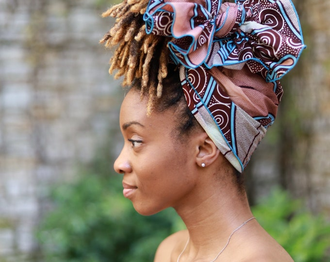 Turban Wax, African Print Headwrap, Ankara Women's Wrap,