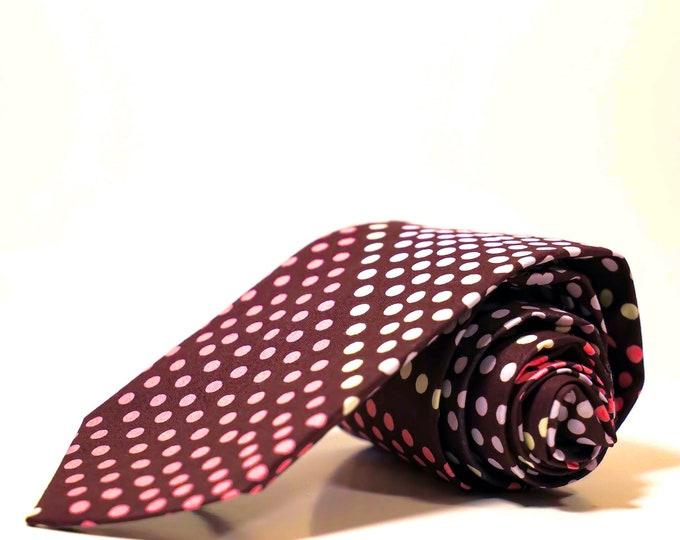 Pink Tie, African Print Tie, Wedding Ties, Groomsmen Tie, Gifts For Him