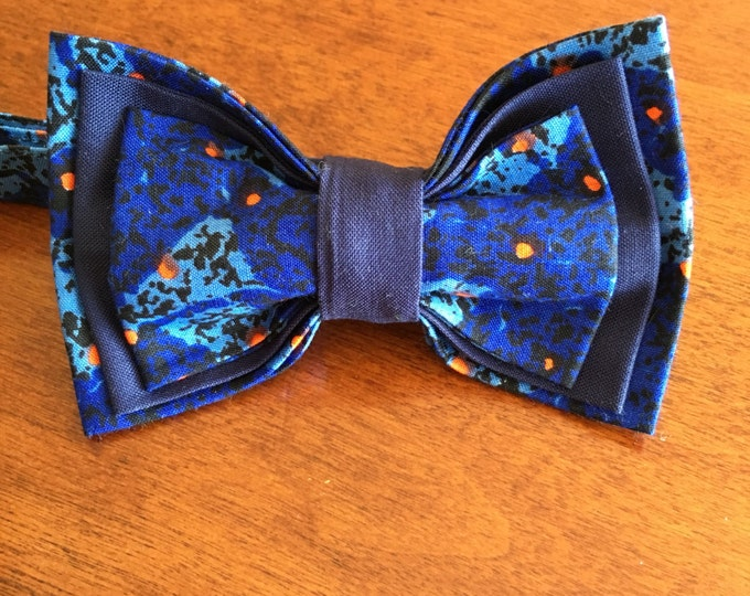 "African Bow Tie, Bow Tie, Ankara bow tie, Nigerian bow tie, Pre-Tied BowTie, Bow Tie for men, BowTie for women, Bow Tie for kids, ""Sapphire"""