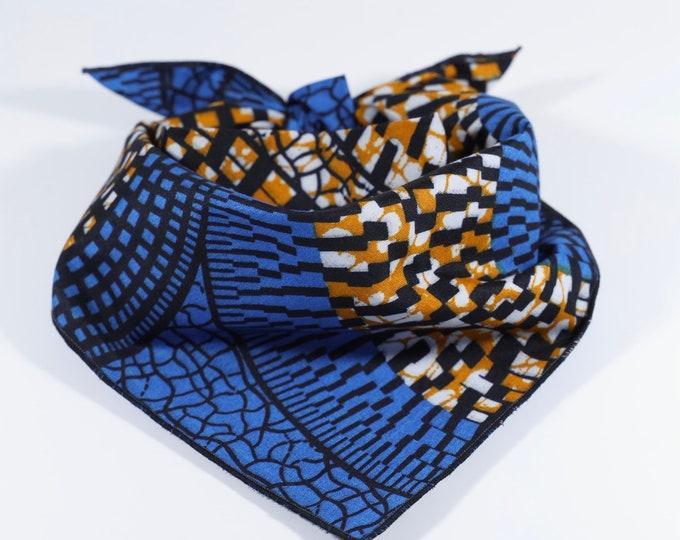 Dog Bandana, Blue Bandana, Pet Neckwear, African Print Bandana