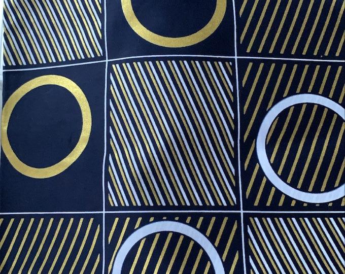 Turban Wax, Blue African Print Headwrap, Ankara Print, Women's Headwrap