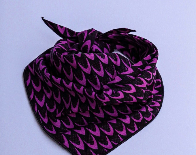 Purple Bandana, Pet Bandana, African Bandana, Dog Gifts, Purple Dog Gifts, Pet Neckwear