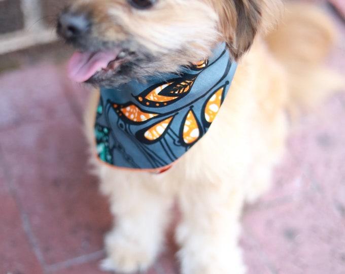 Dog Bandana, African Dog Bandana, Gray Bandana, Pet Neckwear