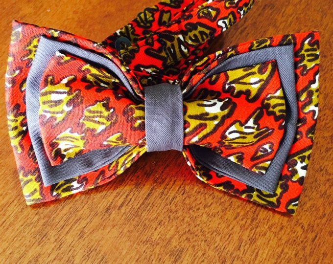 "African Bow Tie, Bow Tie, Ankara bow tie, Nigerian bow tie, Bow Tie for men, Bow Tie for women, Bow Tie for kids, ""Heartbreaker"""