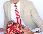 Red Headwrap, Blue Headwrap, Turban Wax, African Headwrap