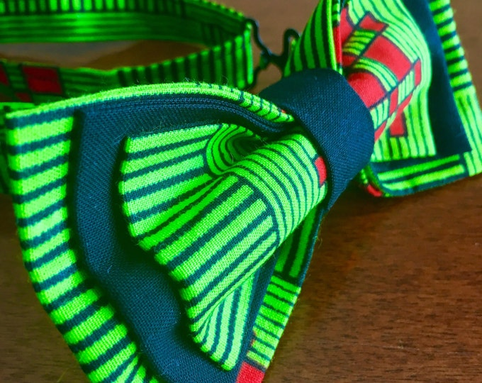 """African Bow Tie, African Fabric Bowtie, Ankara bowtie, Nigerian bowties, Mens Bow Tie, Womens Bow Tie, Baby/Kids African Bow Tie, """"Robyn"""""""